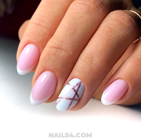 Unique And Fantastic French Gel Nails Art - party, diy, top, nails, naildesigns