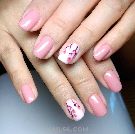Charming And Handy Gel Nail Design - naildiy, cool, diynailart, nails