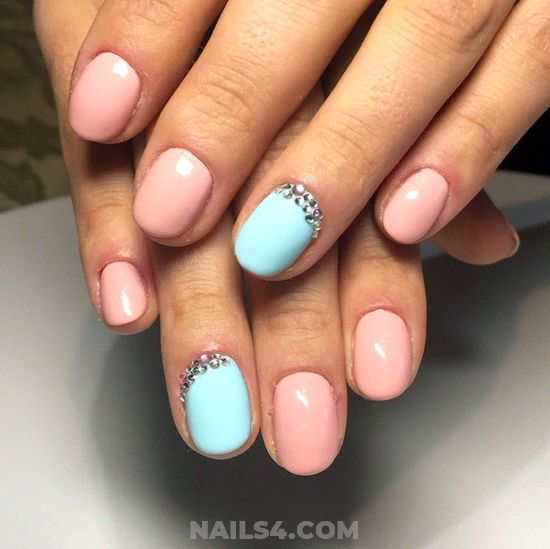 Colorful And Simple Nails Art Ideas - nails, nailartdesigns, art, cute