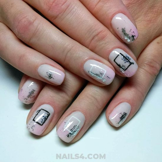 Dainty And Easy American Manicure Art - diy, trendy, nail, gotnails, teen