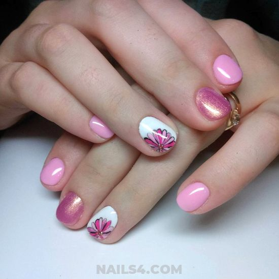 Fashion And Orderly American Manicure - top, artful, nailartideas