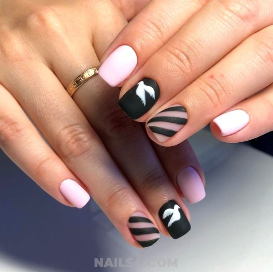 Iconic & Creative French Manicure Style - neat, best, diynailart, nails, beauty