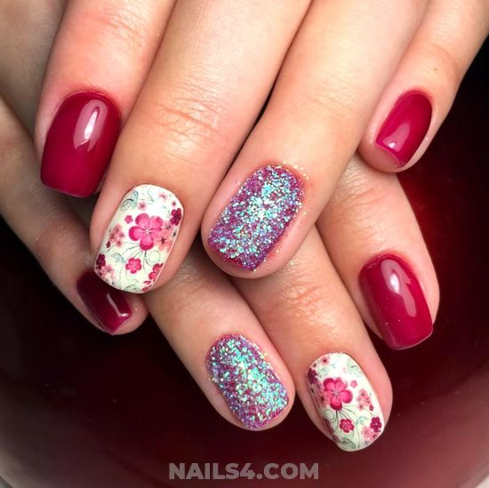 Incredibly Charming American Gel Nails Art Ideas - getnails, nails, nailartideas, art