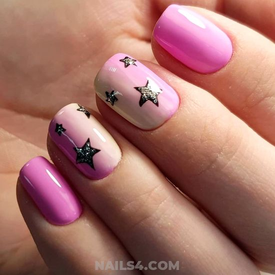 Lovable Casual Nails Design - simple, gel, nailideas, cute