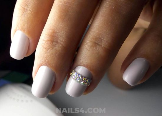 Loveable And Girly Gel Nail Idea - nail, naildesigns, pretty, adorable