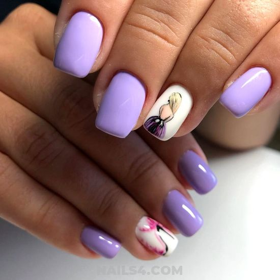 Neat & Attractive Gel Nail Ideas - neat, art, nail, cool