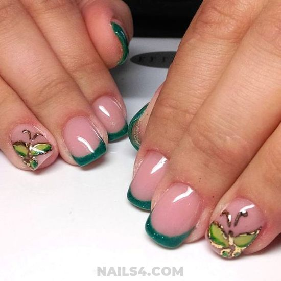 Neat & Cool French Acrylic Manicure Idea - diynailart, nailtutorial