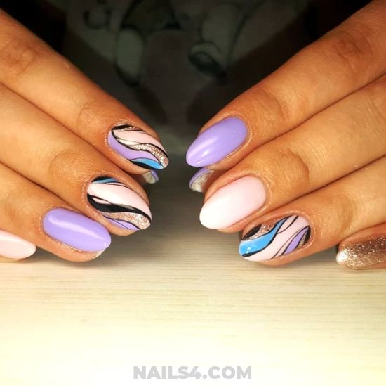 Attractive American Gel Manicure Design Ideas - nailidea, nails, weekend, cool