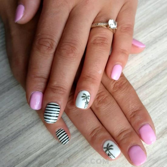 Birthday And Wonderful French Gel Nail Style - design, nailstyle, classic