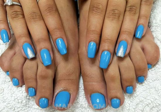Colorful And Loveable Manicure Ideas - blue, toenail, easy, nailswag
