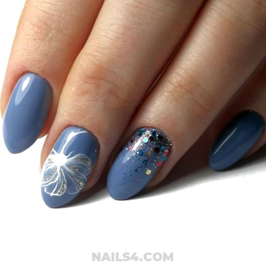 Cutie And Graceful French Acrylic Nail Art - elegant, diynailart