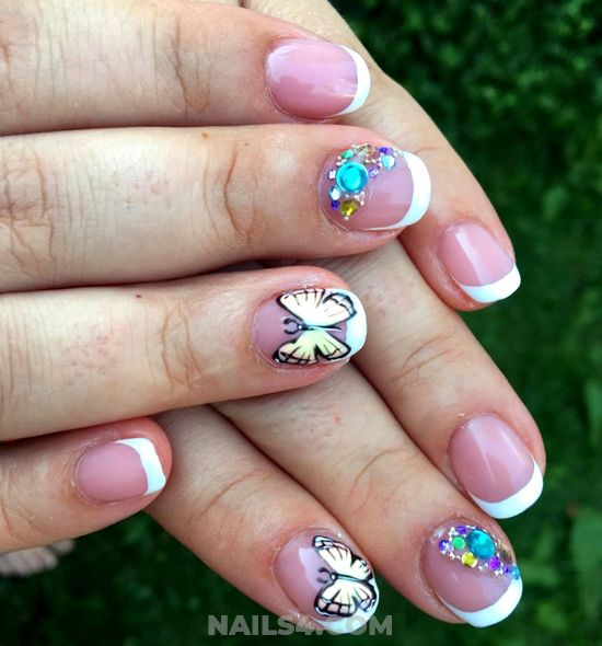 Easy And Colorful Nail Art Ideas - nailtutorial, glamour