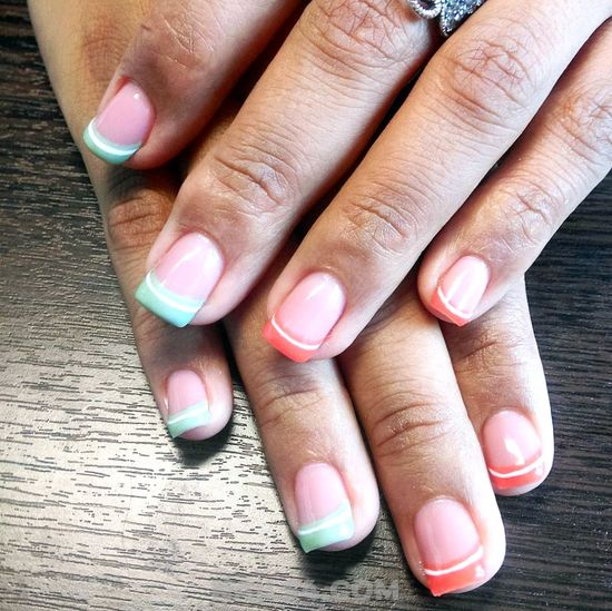 Enchanting And Orderly Gel Nail Design - idea, nailtutorial, nails, nailideas