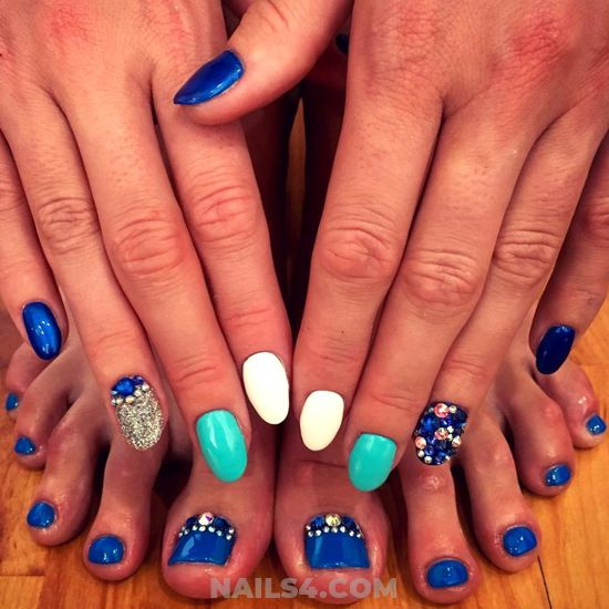 Fantastic And Hot Acrylic Manicure Style - toes, rhinestone, nailideas