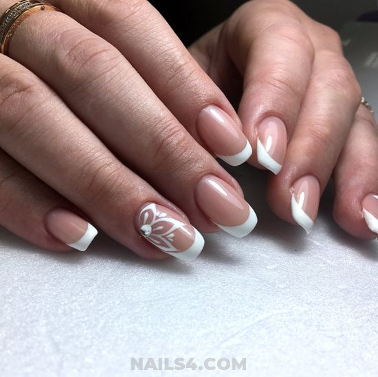 Feminine Simple American Acrylic Nail Art Design - beautytricks, neat, diynailart, nail