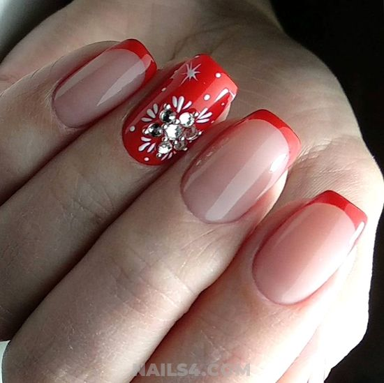 Fresh Handy French Design Ideas - lovable, naildesign, nail, dainty