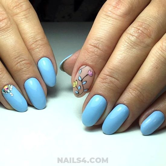 Girly And Loveable Gel Manicure Idea - teen, super, nails, nailartideas