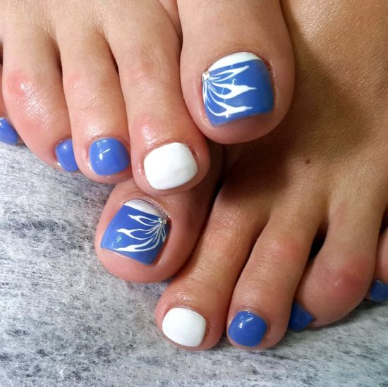 Girly Orderly French Acrylic Nails Ideas - floral, toes, nailideas