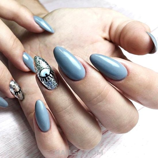 Girly Stately Acrylic Manicure Idea - dreamy, magic, diynailart