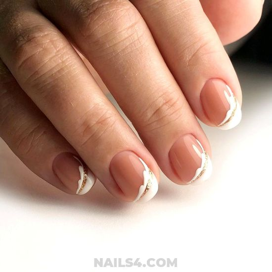 Girly & Stately American Gel Manicure Ideas - naildesigns, nail, sexy, diy, ideas