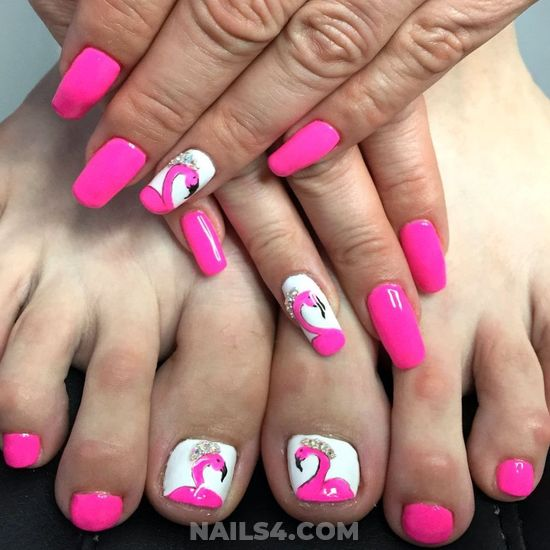 Graceful And Fashionable Gel Manicure Trend - pink, toes, cute