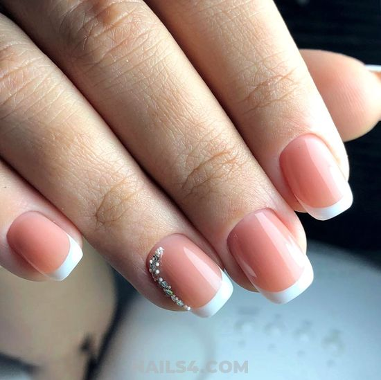 Hot And Adorable French Gel Manicure Design - party, nailartdesign, nail, cool