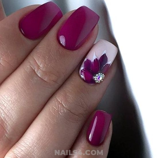 Inspirational And Dreamy Gel Nails Design - shiny, cutie, nails, nailstyle, idea