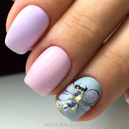 Loveable Elegant American Nail Ideas - charming, nails, furnished, sexiest