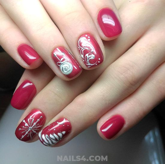 Lovely Birthday Gel Nail Art - artful, glamour, shiny, nail