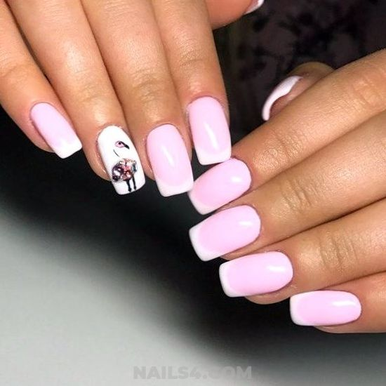 My Casual Easy American Gel Nails Design - nice, glamour, gel