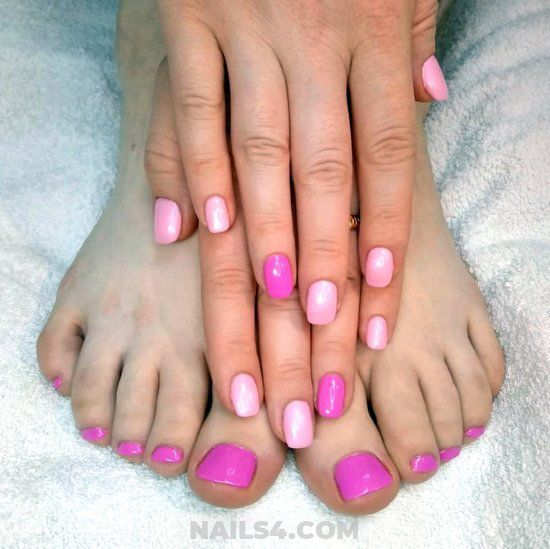My Classic Top Gel Manicure Art Ideas - pink, toes, easy