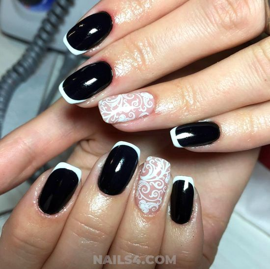 My Fantastic And Graceful French Nail Art Ideas - getnails, art, sweetie, nail, cutie