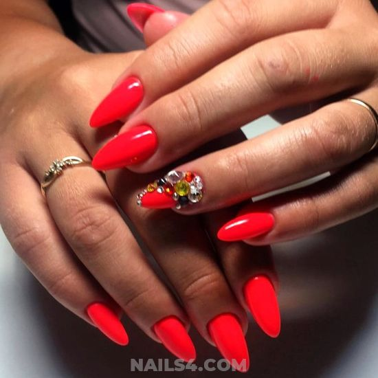 My Inspirational Fashion Gel Nails Style - selfnail, nailidea, nail, enchanting