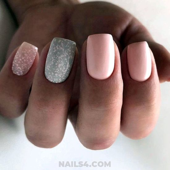 My Nice And Beautiful Gel Manicure Design - inspirationidea, nail, plush, star