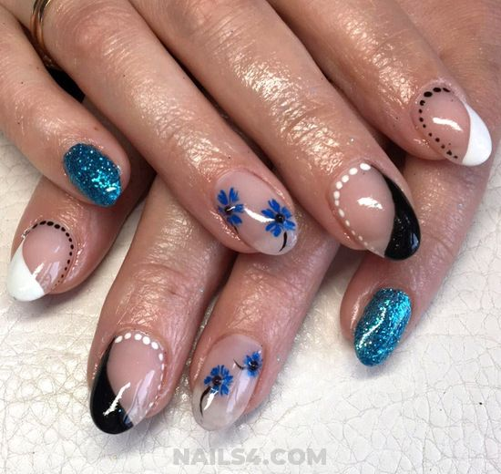 Nice Cool Gel Manicure Design - nice, nailidea, goingout