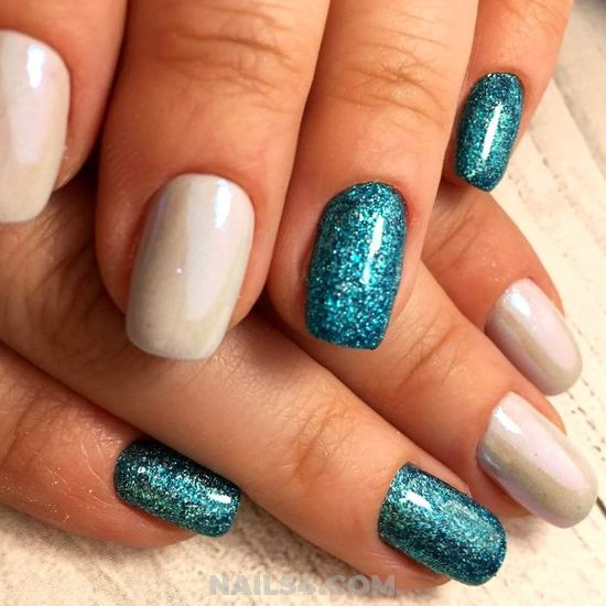 Perfect And Dreamy Gel Manicure Idea - lovable, gelnails, nail