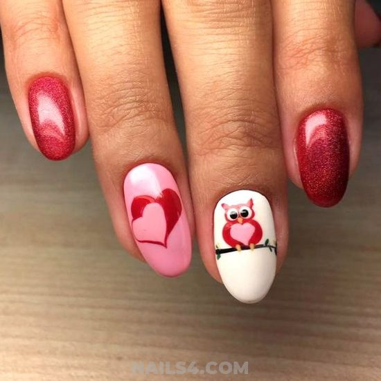 Casual Top Acrylic Manicure - art, charming, nails, graceful, shiny