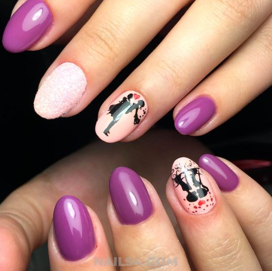 Charming & Glamour Gel Nail Art - getnailsdone, style, nailstyle, nail