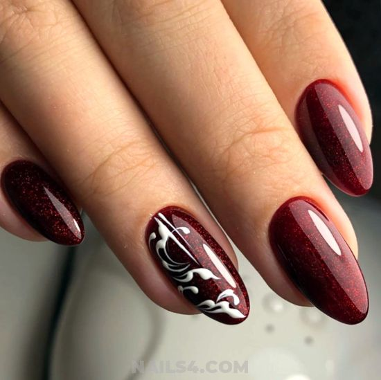 Colorful & Stately Gel Nails Design - cute, naildesigns, nail, top, art