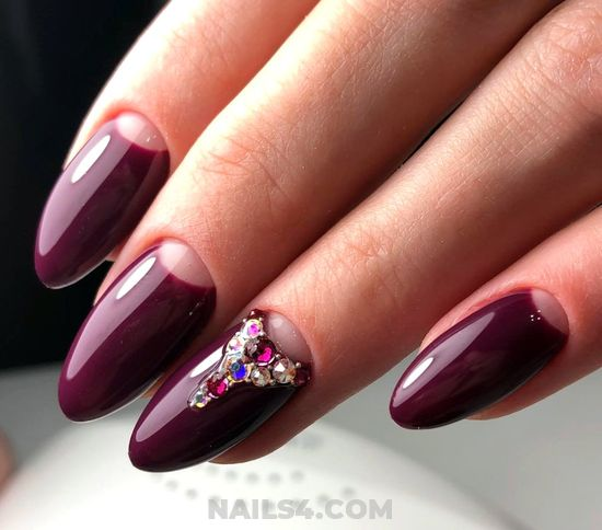 Lovable And Delightful Gel Nail Style - top, nailidea, nails, cool